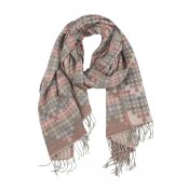 Moshi scarf bomull ull beige rosa