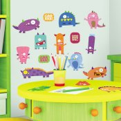 charmiga monster som wallstickers
