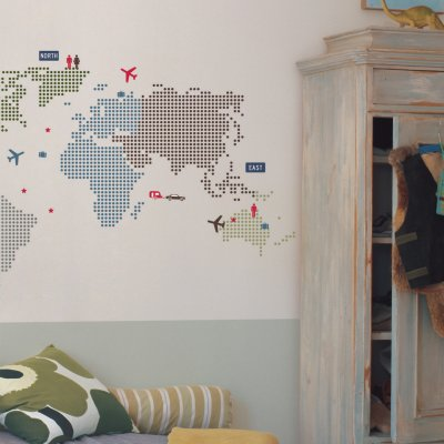 wallstickers world map