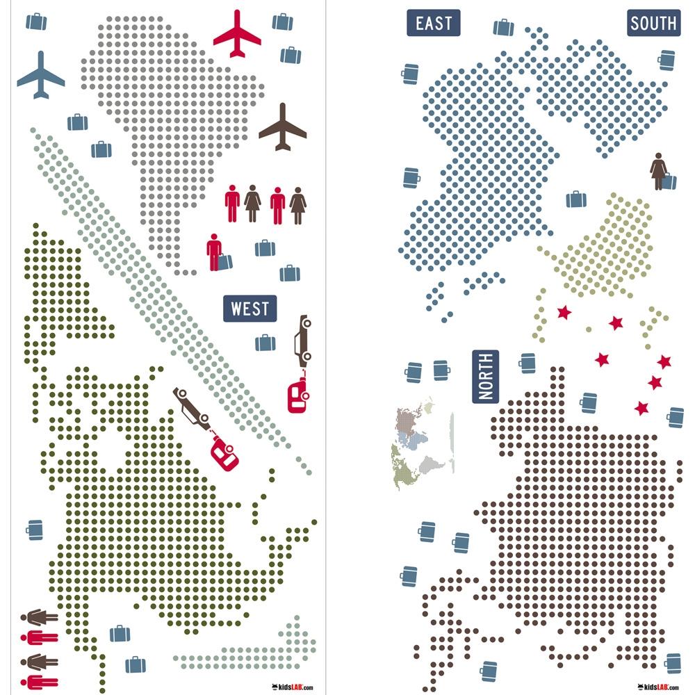Wall Stickers World Map Fyndh rna
